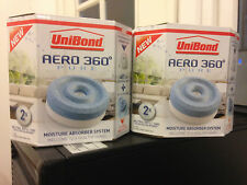UNIBOND AERO 360 PURE 4 x 450g Moisture Humidity Damp Absorber Refills NEW STOCK