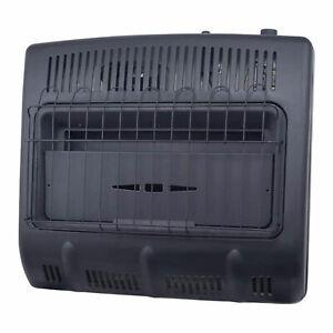 Mr. Heater 30,000 BTU Vent Free Wall Mountable Propane Garage Heater, Black