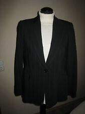 Zara Woman Jacke Blazer schwarz Nadelstreifen Gr. 40 Neuwertig
