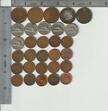 Canada Qty 30 Coin Lot dated 1903-2010 Vintage Canadian Coins Large Cents 5 cent