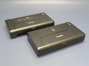 Lot of 2 CANON PIXMA iP110 Wireless Mobile Printer PARTS/REPAIR