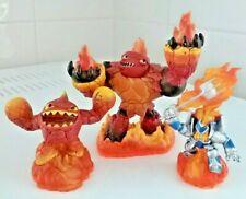 Lot of 3 Skylanders Giants Figures 2012 Hot Head Ignitor Lightcore Eruptor Activ