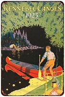 "Kennebec Canoes Rustic Retro Metal Sign 8"" x 12"""