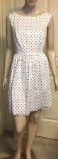 Cotton Blend Knee-Length Polka Dot Dresses for Women