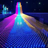 LED String Fairy Lights Net Mesh Curtain Xmas Wedding Party Christmas Decor Lamp