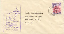 "2415 BERMUDA 1947 FIRST FLIGHT with Colonial Airlines ""HAMILTON - NEW YORK, USA"""