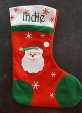 Personalised christmas stocking embroidered santa stocking