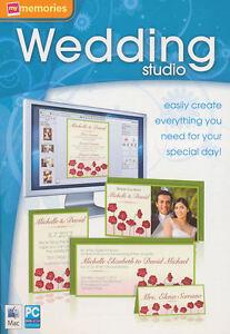 My Memories WEDDING STUDIO Stationary Design Software MAC+Windows XP/Vista/7 NEW