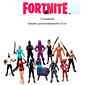 Set FORTNITE de 12 piezas figuras de acción Battle Royal Rex Omega Moonwalker