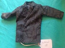 Black Suit Jacket with Gray Stripe Pattern for Ken Barbie Doll KNOW18