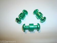 Smith and Wesson M&P 15-22, 1522, 3 pack Upgraded loading assist buttons, Green