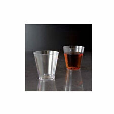 25 Clear Shot Glasses 2 oz Hard Plastic Disposable Cups Wine Party Catering Bar