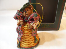 *Longaberger Limited Edition Boyd's Bears & Friends Christmas Ornamt Bell