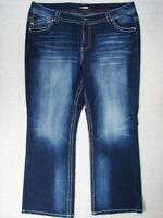 SC07443 **LANE BRYANT** BOOT CUT WOMENS JEANS sz26 DARK BLUE