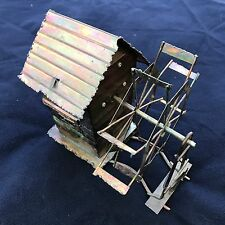 ✳️ Vintage Metal Tin Wind Mill House Moving Music Song Box Decorative Art