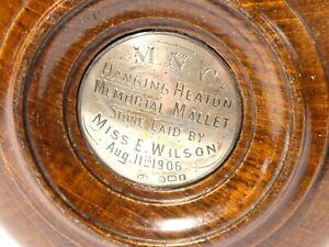1906 HANGING HEATON MEMORIAL MALLET Presentation Masons West Yorkshire