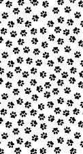 "30""x60"" 1000 PAWS Dogs Paw Print Cotton Microfiber Beach Towel"