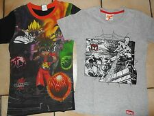LOT DE 2 T SHIRTS MC - 8 ANS - SPIDERMAN + BAKUGAN