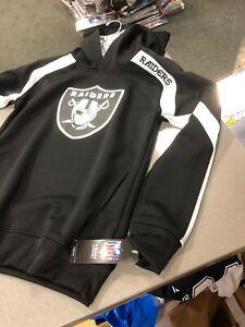 Oakland Raiders HOODY YOUTH/BOYS BLACK DRY-FIT NFL TEAM APPAREL