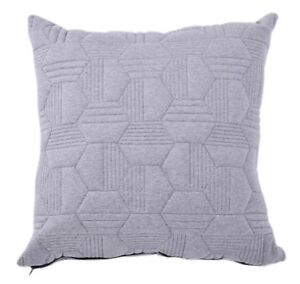 "1 Pc 100% Cotton Knitted Gray Quilted Cushion Cover Pillow Cover 18x18"" 45x45cm"