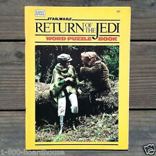 Original 1980s Diff STAR WARS Return of the Jedi Word Puzzle Book Toy NOS Old