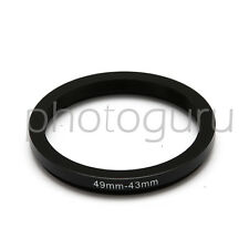 Anello adattatore STEP-DOWN per filtri 49mm 43mm adapter stepdown 49 43 mm 49-43