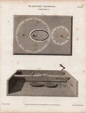 1808 ~ stampa Georgiano macchine PLANETARIA cometarium Astronomia