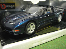 CHEVROLET CORVETTE TARGA cabriolet 1/18 BURAGO 3396 BL voiture miniature collec
