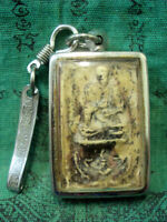 Phra ya ngang ta dang amulet  talisman Brass texture covered with gold plated