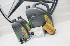 Genuine Mercedes-Benz W205 C-Class C200 C220 C250d Oil Filter & Engine Oil OM651