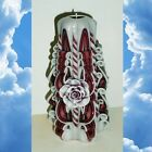 Maroon Rose candle Mother s day gift Hand Carved candles 6.7 inch/ 17cm