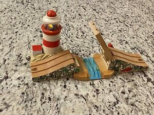 Thomas The Train Wood Wooden Lighthouse Draw Bridge Light & Sounds VTG