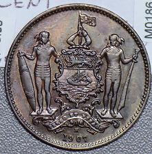 M0186 Malaya and British Borneo 1907 H Cent rare in high grade combine shipping