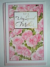 """""""TO A VERY SPECIAL MOTHER"""" BIRTHDAY GREETING CARD + PINK ENVELOPE"""