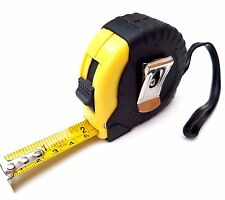5 METRO Nastro di misura di gomma antiscivolo custodia chiudibile a chiave metrica imperiale di misurazione NUOVO
