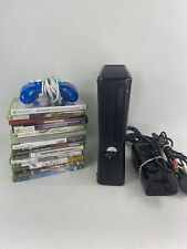 XBOX 360 S Console Model 1439 4GB - Bundle: Controller,  Cables, Games Minecraft