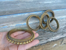 Vintage old French 1900s batch of 5 solid Bronze curtain rings