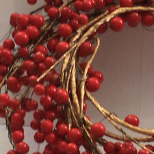 VINTAGE HOLIDAY 6 FT RED PIP BERRY BERRIES GARLAND CHRISTMAS ORIGINAL PACKAGE