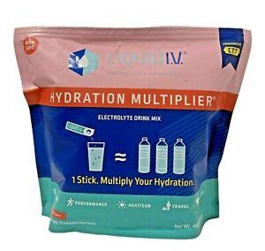 Liquid I.V. Hydration Multiplier Electrolyte Powder- 30 Strawberry EXP 01/23