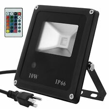 RC 10W RGB+W Led Flood Light With Remote Control16 Colors Lights & 4 Modes