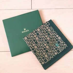 Rolex Handkerchief Novelty Official Products Green Logo Pattern Japan New