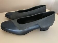 Women's Laura Benini 'Noir' Leather & Suede Shoe, Sapphire Grey, Size 9
