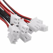 10 Set 2 Pin Mini Micro JST XH2.54mm 24AWG Connector Plug With Wire
