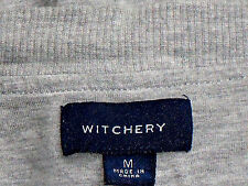 WITCHERY GreyMarlLongCasualFrontZipPocketedVestSizeM