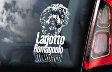 Lagotto Romagnolo Car Sticker, Romagna Water Dog Window Bumper Decal Gift - V01