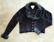 VARON Handloomed in USA sweater brown/black  size 2