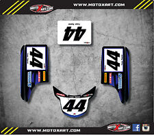 YAMAHA Blaster 200 88 - 06 - 2008 Number Plate Graphics Thunder Style decals