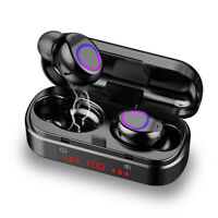 TWS Bluetooth 5.0 Kabellos Kopfhörer In-Ear Ohrhörer Headset Stereo Ladebox