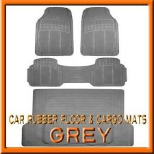 Fits 3PCS Toyota 4Runner Grey Rubber Floor Mats & 1PCS Cargo Trunk Liner mat