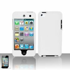 Hard Rubberized Rear-only Case for iPod Touch 4th Gen - White